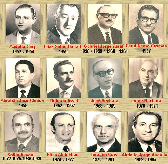 Presidentes do clube até 1989