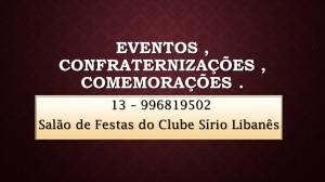 1-Eventos , confraternizações , comemorações